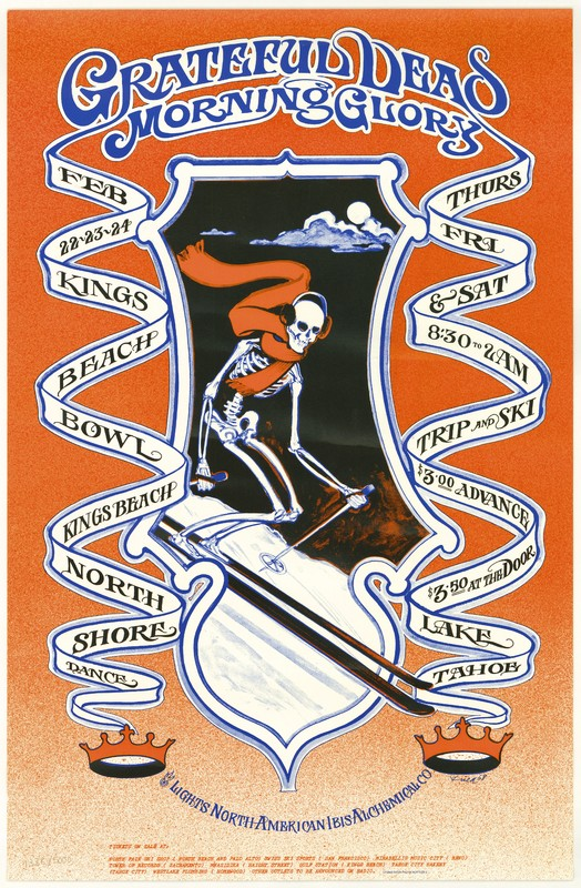 Grateful Dead - Morning Glory. Lights: North American Ibis Alchemical Co. February 22-24, King's Beach Bowl, Lake Tahoe