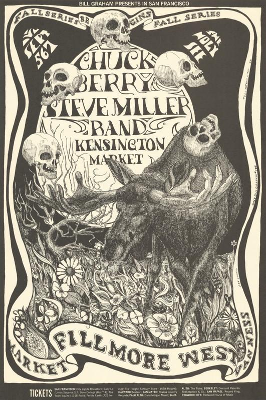 Chuck Berry, Steve Miller Band, Kensington Market - Lights: The Holy See - Bill Graham Presents in San Francisco - September 5-7 [1968] - Fillmore West