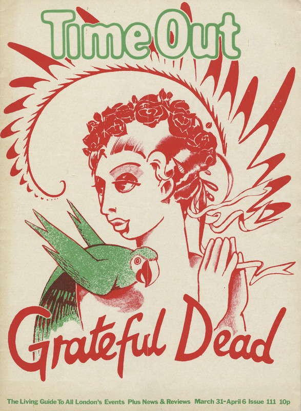 Time Out (March 31-April 6, 1972) weekly newspaper with Grateful Dead tour dates announced