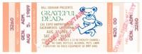 Bill Graham Presents Grateful Dead - Cal Expo Amphitheatre - August 5, 1989