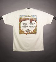 "T-shirt: ""Grateful Dead"" - skeleton cowboy playing banjo. Back: ""Grateful Dead / Fall Tour 1994 / [cities and dates]"