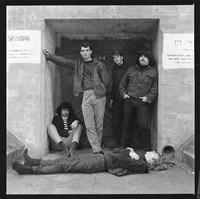 """Warlocks: Jerry Garcia, Bill Kreutzmann, Bob Weir, Ron """"Pigpen"""" McKernan, with Phil Lesh in front"""