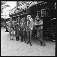 """Grateful Dead in Golden Gate Park: Bill Kreutzmann, Jerry Garcia, Ron """"Pigpen"""" McKernan, Phil Lesh, Bob Weir"""