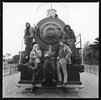 """Grateful Dead in Golden Gate Park: Bob Weir, Phil Lesh, Ron """"Pigpen"""" McKernan, Bill Kreutzmann, Jerry Garcia"""