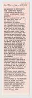John Scher Presents Grateful Dead - Madison Square Garden - September 15, 1988