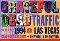 Grateful Dead, Traffic. June 24, 25 & 26, 1994, Sam Boyd Stadium, University of Nevada, Las Vegas