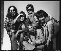 Grateful Dead: Jerry Garcia, Bob Weir, Phil Lesh, Bill Kreutzmann, Mickey Hart, with Brent Mydland in front