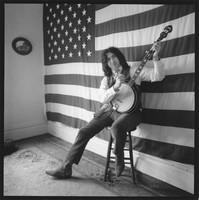 Jerry Garcia with a banjo