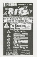 Ritz, September / The Radiators, Loup Garou - The Silencers, Dumptruck - Hoodoo Gurus, Redd Kross - Hooters, Del Fuegos - The Fixx, Georgia Satellites, Brandos