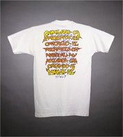 "T-shirt: ""GD 1994"" - Native American insignia. Back: cities and dates"