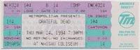 Metropolitan Presents Grateful Dead - Nassau Coliseum - March 24, 1994
