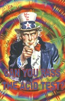 Can You Pass the Acid Test? - Uncle Sam on a rainbow-colored background