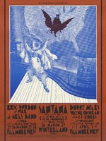 Eric Burdon and War, J. Geils Band, also War - Lights by Deadly Nightshade - Fillmore West, March 25-28 / Santana - Lights by Heavy Water - Winterland, March 26-27 / Buddy Miles, Wayne Cochran and the C. C. Riders, Sugarloaf - Lights by Little Princess 109 - Fillmore West, April 1-4 [1971] / Bill Graham Presents in San Francisco
