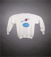 "Sweatshirt: ""Grateful Dead / Compton Terrace / Arizona / 8 & 9 Dec 1990"" - stealie. Back: ""Evening Star / BGP"""