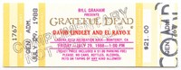 Bill Graham Presents Grateful Dead, David Lindley and El Rayo X - Laguna Seca Recreation Area - July 29, 1988