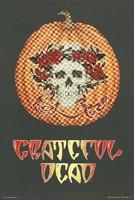 Grateful Dead [Halloween: skull and roses on a pumpkin]