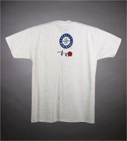 "T-shirt: ""Seattle Mariners"" - stealie. Back: ""Seattle Mariners"" compass, rose"