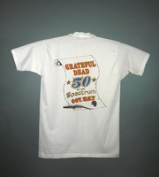 "T-shirt: ""50 at the Spectrum"" - stealie, Liberty Bell. Back: ""Grateful Dead / 50 at the Spectrum"""