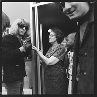 Grateful Dead: Phil Lesh with neighbors (?), with Bill Kreutzmann in the foreground