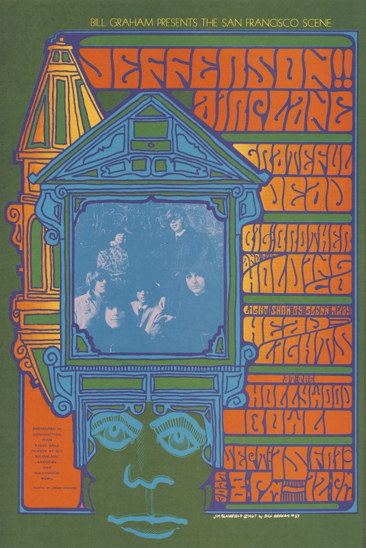 Jefferson Airplane, Grateful Dead, Big Brother and the Holding Company, Glenn McKay's Head Lights - Bill Graham Presents the San Francisco Scene - September 15 [1967] - Hollywood Bowl