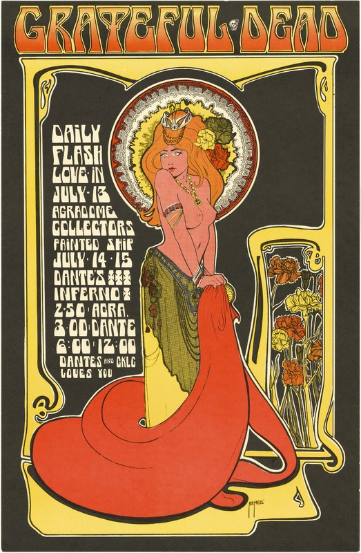 Grateful Dead, Daily Flash, Love-In, July 13, Agrodome; Collectors, Painted Ship, July 14-15, 1967, Dante's Inferno