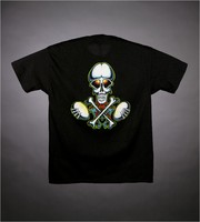 "T-shirt: ""Grateful Dead"" - skull, bones, roses. Back: skull, bones, eggs"