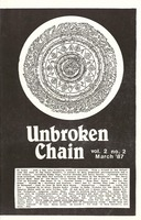 Unbroken Chain, Volume 2, No. 2 - March 1987