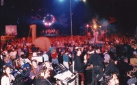 Grateful Dead, ca. 1993: distant view of the stage