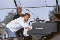 Bruce Hornsby and unidentified saxophone player