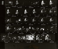 Grateful Dead, ca. 1980s: contact sheet with 30 images