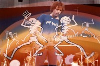 Bob Weir: double exposure with dancing skeletons