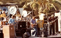 Grateful Dead, ca. 1980s: Bill Kreutzmann, Phil Lesh, Mickey Hart, Bob Weir, Jerry Garcia