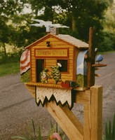 "Phil Gerstheimer's ""Terrapin Mailbox"" at his home in Missouri, ca. 1995"