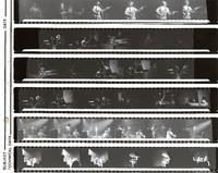 Unidentified musicians, ca. 1970s: contact sheet with 34 images