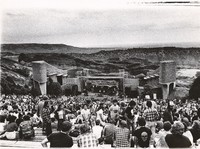 Grateful Dead at Red Rocks: distant view of the stage