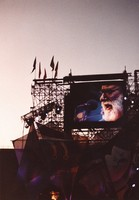Grateful Dead at Soldier Field: Jerry Garcia on the big screen monitor