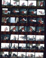 Grateful Dead and Chuck Berry at Portland Meadows: contact sheet with 35 images