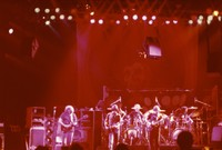 Grateful Dead at the Warfield Theater, ca. 1980: Jerry Garcia, Bob Weir, Bill Kreutzmann, Phil Lesh, Mickey Hart