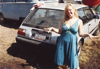 "Deadhead with vehicle with ""LUV-LITE"" North Carolina license plate, ca. 1990"
