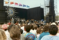 Grateful Dead, ca. 1980s: distant view of the stage