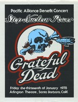 "Grateful Dead - Pacific Alliance Benefit Concert ""Stop Nuclear Power"" - January 13, 1978, Arlington Theatre"