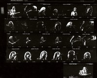 Grateful Dead, ca. 1980s: contact sheet with 25 images