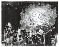 Grateful Dead: Bob Weir and Jerry Garcia, with Bill Kreutzmann and Mickey Hart in the background