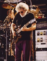 Jerry Garcia, with the guitar, Lightning Bolt, ca. 1995