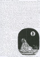 Letter with illustration of Jerry Garcia in the moon