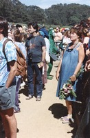 Memorial for Jerry Garcia: mourners, including one in costume