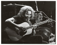 Grateful Dead during an acoustic set: Jerry Garcia and Bill Kreutzmann
