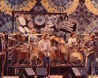 Grateful Dead, ca. 1982; Jerry Garcia, Bill Kreutzmann, Bob Weir, Mickey Hart, Phil Lesh