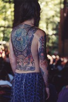 Deadhead with tattoos