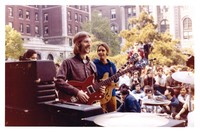 Grateful Dead: Phil Lesh and Bob Weir, with striking students